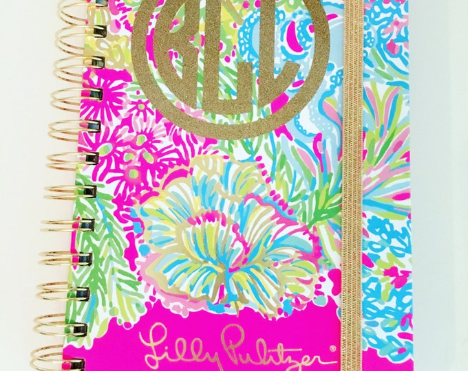 Glitter Monogram Decal Small Decal Agenda Decal Notebook Folder Binder Decal Personalized Decal Monogram Small Circle Decal Glitter Vinyl