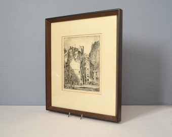 Vinage Original Earl Horter Signed and Framed Etching