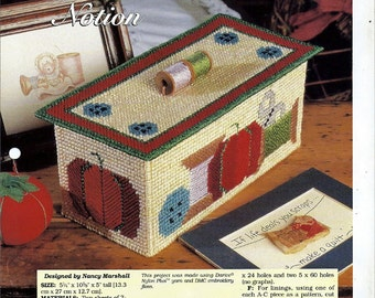 I've Got a Notion Box Plastic Canvas Collector's Series Pattern The Needlecraft Shop 964029