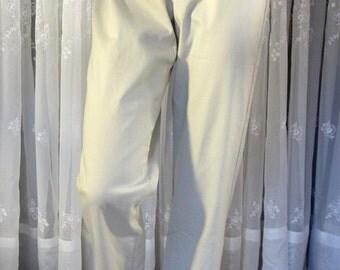 Vintage 90's women's Liz Claiborne khaki cotton blend pants size 8