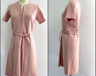 1960's pink MOD dress, pretty in pink