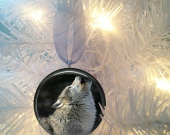 Wolves #5 Christmas Tree Ornament