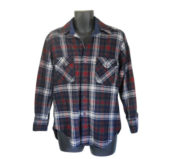 Lumbersexual Wool Flannel Shirt Men Flannel Shirt Red Flannel