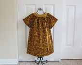 Peasant Dress  - Sale  -   FALL DRESS -   Holiday  Dress  -  Toddler Girls  -   3T  Dress -  Ready to ship  By Emma Jane Company