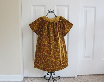 Peasant Dress  -  Sale  -    FALL DRESS -   Holiday  Dress  -  Toddler Girls  -   18 Month Dress -  Ready to ship  By Emma Jane Company