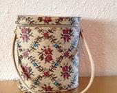 Vintage Needle Case, Vintage Knitting Bag, Project Bag, Craft Storage, Craft Bag