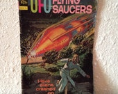 "Vintage UFO Comic, Vintage ""Gold Key"" Comics, Vintage Cartoon Paper Crafts"