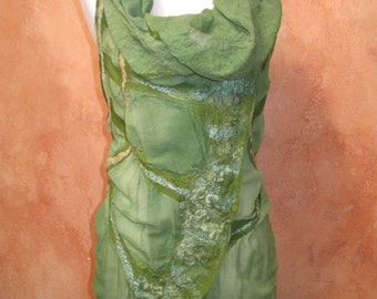 Celery Green Circular Vest Nuno Felt