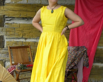 Canary Yellow Party Dress