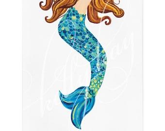 """Art Print - """"Mermaid"""" (Vertical)"""