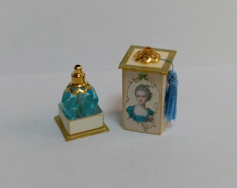 Perfume bottle with your blue box