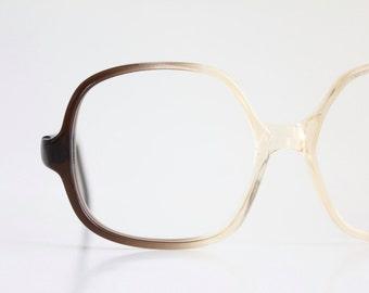 Vintage 80's Oversized Smokey Chocolate Eyeglasses Frames