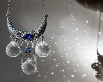 Boho Gypsy Triple Prism Crystal Suncatcher