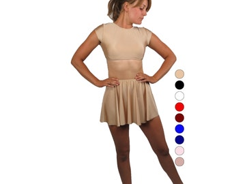 Ballet dancewear - choose your color - dancewear - mini circle skirt