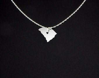 South Carolina Necklace - South Carolina Jewelry - South Carolina Gift