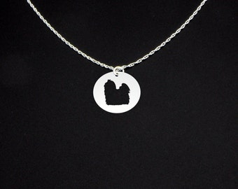 Maltese Necklace - Maltese Jewelry - Maltese Gift