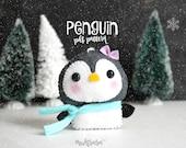 CHRISTMAS ORNAMENT - pdf pattern, baby penguin, winter wonderland, Christmas ornament, DIY, Holiday decoration