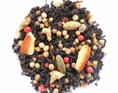 WINTER IS COMING, Organic Orange Spice Tea,  Loose Leaf Black Tea, Hand Blended, Cardamom, Coriander, Apple, Caffeinated, 1oz Eco Box