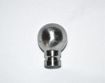 Chrome Dome Lamp Finial Is a Silver-Tone Sweetie, Mid Century Vintage