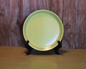 Mikasa Pistachio Plate Large Green Serving Platter Retro Made in Japan Housewares Vintage 1970s 70s (O)