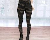 Military Glitter leggings for U-noa ,msd bjd &minifee.
