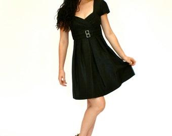 90's Vintage Little Black Dress, Teen Girls Party Dress, Prom Dress, Short Prom Dress, Size 2