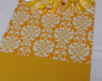 Yellow Damask Formal Clipboard