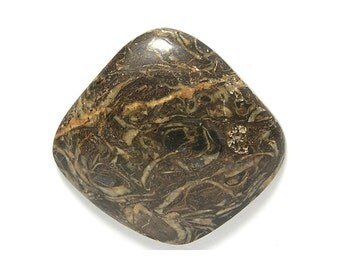 Stromatolite Fossil Polished Semiprecious Stone Cabochon,  Very Ancient Prehistoric Life Stone Fossil from Peru