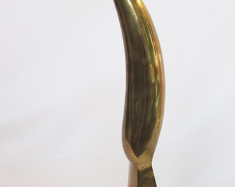 Solid Brass Abstract Sculpture