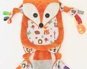 Fox Baby Blanket lovey Pacifier Keepsake Toy friend