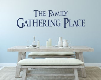 Dining Room Decor, Family Sign, Family Wall Decal, Family Wall Art, Family Wall Decor, Dining Room Wall Art, Dining Sign - WD0083