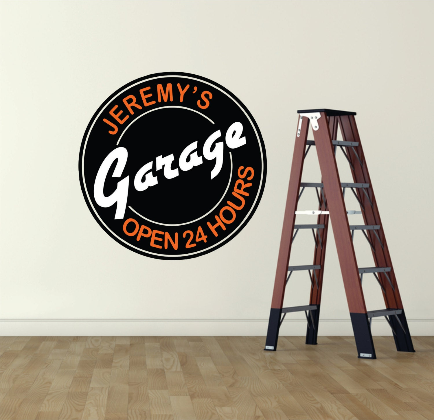 Garage Signs Decor : Garage decor sign wall decal art man