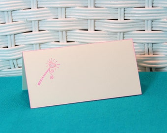 Handmade Set of 8 Fairy Tale Magic Wand Place Cards
