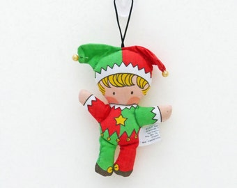 Rare Joan Walsh Anglund Jester Cloth Ornament