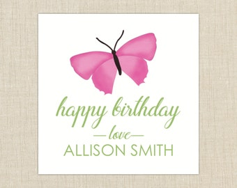 personalized gift tag- label- sticker. birthday gift label