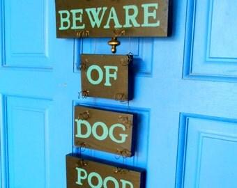 Beware of Dog, Beware of Dog Poop Sign, Yard Art, Beware of Dog Sign, Black, Jade Green, Beware of Dogs, Pet Sign, Wood Dog Sign, Dog Sign