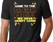 Mens Come To The Dark Side T-Shirt tshirts, trick or treat, halloween, costume, spooky black, candy corn S-2XL