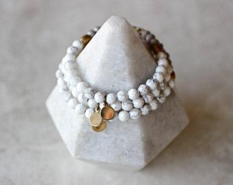 Marble + Brass Tag Bracelet