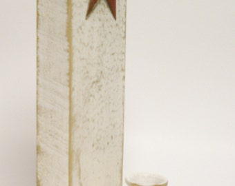 Candle Holder with Star, Primitive Americana Decor, Country Farmhouse Sconces