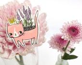 SALE - Cat Plant Brooch