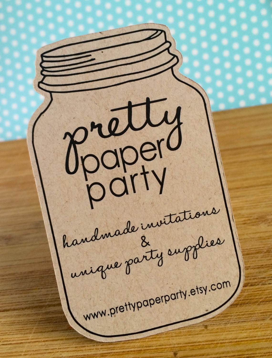 Custom Die Cut Mason Jar Business Cards Small Quantities