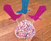 Cowboy Boot Cupcake Toppers --  Last Rodeo Bachelorette Party / Cowboy/Cowgirl Birthday Party / Baby Shower