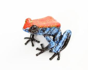 Poison dart frog - large - red & blue - Bronze