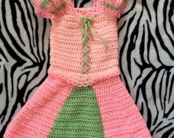 Crochet Toddler Peasant Dress