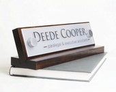 Desk Name Plate or Desk Nameplate Makes a great Mothers Day or Fathers Day Gift size 10 x 2.5 inches