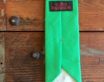 Bright Green Tie Vintage Mens Accessories