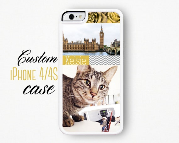 Custom iPhone Case / Custom iPhone 4 Case / Personalized iPhone 4 Case Make Your Own Cover Silicone Custom iPhone 4S Custom Phone Case