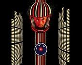 2001 Space Odyssey retro poster/ illustration/ original art