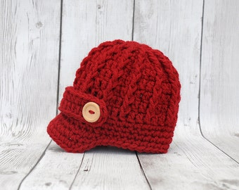 Baby christmas hat, christmas newsboy hat, baby newsboy hat, newborn newsboy hat, christmas outfit, newborn christmas hat, baby boy hat, boy