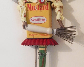 The Kitchen Spice Angel Art doll Assemblage